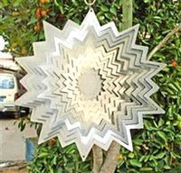 Wholesale Wind Spinners Stainless Steel - Sun Splash Stainless Steel Wind Spinner Home Garden Indoor Outdoor Epoxy Coating with Sparkles Powder Laser Cutting Never Rust 12inch