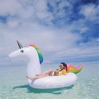Summer Kids Adult Inflável Float Tubes Unicornio Pegasus Natação Float Raft Air Mattress Swim Ring Ride-On Water Pool Beach Toy DHL / Fedex
