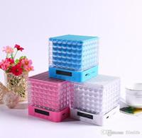 Wholesale Mini Rubik Cubes - T-2086A Bluetooth Speakers with LED Rubik Cube FM TF USB AUX Portable Mini Pair Bluetooth Speaker Home Audio Support TF Card FM Mp3 Player