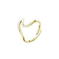 Wholesale Silver Wedding Ring Waves - Wholesale 10Pcs lot 2017 New Fashion Midi Rings Simple Jewelry Adjustable Wave Gold Filled Rings Wedding Bands Bridesmaid Gifts