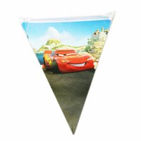 Wholesale New style Meters Car models Pennant birthday party Factory outlets birthday Cartoon pennant