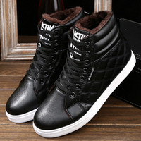 Wholesale Shoes Europe Men - Wholesale-2017 New men woots winter plus new warm cotton shoes Europe casual with high-level boots with flat men shoes H042
