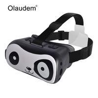 дизайнерский картон оптовых-Wholesale- VR Glasses Google Cardboard Virtual Reality 3D Glasses Lovely Panda Design For 4~6 inch IOS and Android Smartphones VR1118Z