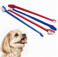 Wholesale Dental Brushes - Hot sales Pet Supplies Cat Puppy Dog Dental Grooming Toothbrush Color Random Delivered 200pcs DHL FEDEX UPS SF fast shipping