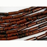 Atacado Atacado Natural Genuine Gold Mahogany Obsidian Tube Loose Beads Barrel Coluna Beads Fit Jóias 15