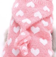 Wholesale Baby Pet Clothes - 1 Piece Pink cute Pet Dog and cat clothing harness sweater baby Lovely four-legged sweater Free shipping Wholesale 4-2210