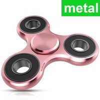 Wholesale Triangular Boxes - Good Quality Fidget Spinner Acrylic metal Triangular Fingertips Toy Hand Spinner Gyro Stress Reliever Toys With Box