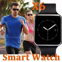 Wholesale Use Mobile For Sale - X6 Smart Watch Smartwatch For Samsung Sony Android Mobile Phone With SIM TF Card Slot 2017 Hot Sale Curved Sceen Watchs