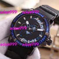 Wholesale Perpetual Luxury - Luxury Brand Diamond Bezel Black Stainless Mens Automatic Mechanical Watch UN Toro Perpetual Calendar MULTI-FUNCTIONS Ulysse Men Wristwatch