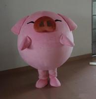 benutzerdefinierte schwein kostüm großhandel-Hight Qualität niedlichen rosa Schwein Maskottchen Kostüm benutzerdefinierte Größe Halloween Karneval Halloween Kostüm Kostüm