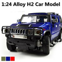 Wholesale Cars Discount Toys - 50% Discount 1:24 Advanced alloy car models,Super SUV,Diecasts Metal H2 Toy Vehicles,Collections Cars,