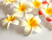 Wholesale Wholesale Plumeria For Weddings - 50PCS free shipping 7cm 2.75inch wholesale emulational silk plumeria head for home,garden,wedding,or headwear or dress holiday decoration