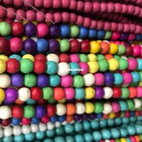 Wholesale Wholesale Howlite - 8mm 50PCs Strand Mixed Colors Howlite Round Beads Synthetise Dyed 16'' For Necklace Bracelet Jewelry Accessories DIY Stone Loose Beads