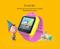 Wholesale Touchscreen Wristwatch - Hot Selling 3G GPS Tracker Kids Smart Watch Wristwatch with SOS Camera Remote Control Touchscreen Children Watch for Smartphone