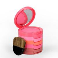 Wholesale Minerals Kit - Blush Mineralize Palette 5 Color Blusher Maquiagem Makeup Matte And Graceful Powder Mineral Cream Cosmetic Beauty Kit ZA2485