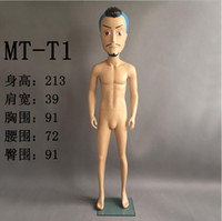 Wholesale Display Mannequin Dolls - freeshipping! New fashion 3 colour Big head doll fashion personality men model Mannequin props, clothing store window display model B499