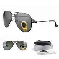 Wholesale g drives - Classic Pilot Sunglasses for Men Women G-15 Green Lens Alloy Black Frame Wholesale Sales of Top Quality Sunglasses Lens Width:55 58 62