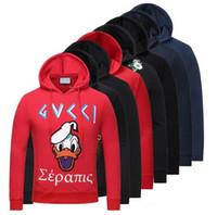 Wholesale Green Fashion Jackets For Women - Luxury Brand Designer hoodies for men women Italy Fashion Snake Donald Duck Tiger Print Men's Hoodies Sweatshirts Palace Brand G Coat Jacket