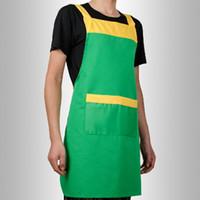 erwachsene werkzeuge für männer großhandel-Küche Kochschürze Reinigungswerkzeug Zubehör für Koch Metzger Mode Plain Handwerk Backen Polyesterfaser Erwachsene Anti Fouling Mann
