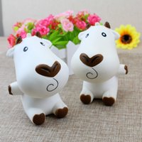 Wholesale Doll Phone Charms - Milk Cow Squishy Cartoon Doll Slow Rising Jumbo Phone Straps Charms Scented Pendant Bread Cake Fun Kid Toy Gift