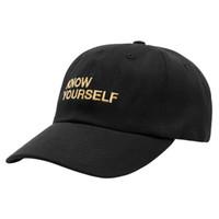 Wholesale God Dance - 2016 New RARE Kanye West Know Yourself Baseball Cap Dad Hat Wolves Snapback Caps God Pray Street Dance Hip Hop Hats Men Women