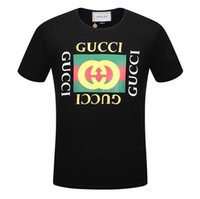 Wholesale Male Logos - Joint BOX LOGO monagram printing short-sleeved round neck T-shirt male Slim business men tee Barcelonass Sarna T-shirt short-sleeved