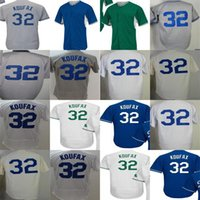 parches navy al por mayor-Los angeles 32 Sandy Koufax 2017 postemporada WS Parche Adulto Femenino Juvenil Turn Back Camisetas de béisbol Celtic cool flex / playeras White Navy