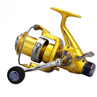 Wholesale bait free reels - Fishing Reel Metal Spinning Reel BB Double Drag Carp Feeder Fishing Reel Wheel Fishing Reels