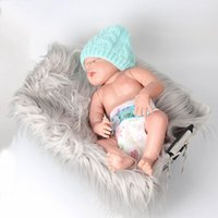 Wholesale Photographic Props - Retail Newborn Props Baby Blanket Photo Props Long Wool Photography Solid Color Quilt Photographic 11 Colors 7032
