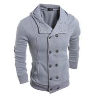 Wholesale double standard clothing mens online – design Winter Men s Hoodies Spring Fashion Men Hooded Sweatshirts Streetwear Mens Tracksuit Hip Hop Clothing Hoodie Tracksuit M XL