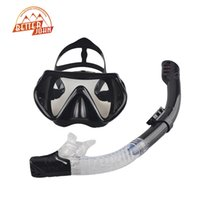 Wholesale diving equipment set - Wholesale-2016 New Professional Scuba Diving Mask Snorkel Anti-Fog Goggles Glasses Set Silicone Swimming Fishing Pool Equipment 6 Color