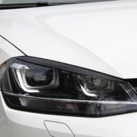 Wholesale Golf Gti Carbon - 2 pcs lot Headlights Eyebrow Eyelids ABS Chrome Trim Cover for Volkswagen VW Golf 7 MK7 GTI Car Styling