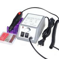 kit de unhas acrílico elétrico venda por atacado-Atacado-profissional elétrica prego acrílico pedicure Manicure Drill Machine Kits