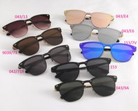 Wholesale Soscar N Blaze Sunglasses Brand Designer Sunglasses for Men Women New Arrival Flash Mirror Lenses Ray Metal Frame Bans
