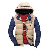 Wholesale Unique Design Clothes - Wholesale- 2016 New Men Jacket Unique Design Windbreak Autumn Winter Worm Mens Jackets And Coats Khaki Patchwork Casual Male Brand Clothing