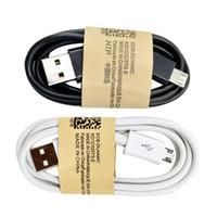 galaksi şarj kabloları toptan satış-Mikro USB Kablosu Cep Telefonu Şarj Kablosu 100 CM USB2.0 Data sync Şarj Kablosu Samsung galaxy HTC Android