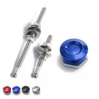 """Wholesale latching push button - TANSKY - 1"""" Aluminum Quick Latch Low Profile Lockable Push Button Hood Pins For Honda et TK-DP016M-25 DP017M-25"""