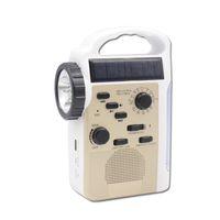 Wholesale Dynamo Torch Radio - New Multifunctional Flashlights 8 LED Hand Crank Dynamo Solar AM FM Radio Phone Charger LED Torch Flashlight Blutooth SD Speaker