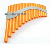 Wholesale Musical Folk Instruments - Wholesale- PanFlute 15 Pipes ABS Wind Instrument Panpipe G Key Flauta Handmade Folk Musical Instruments