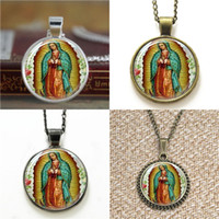 Wholesale Catholic Virgin Mary - 10pcs Our Lady of Guadalupe Virgin Mary Religious Catholic Necklace keyring bookmark cufflink earring bracelet