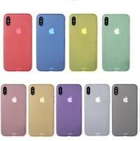 iphone transparent ultra ince toptan satış-Iphone x için kılıf 0.3mm ultra İnce ince mat temizle kılıfları ultrathin kristal Şeffaf kapak kılıf iphone 8 7 artı 6 s 6 artı samsung s8