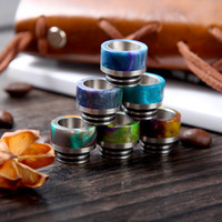 Wholesale Ss Atomizer - NEW Design SS + Epoxy Resin TFV8 Drip Tips Dual O-Rings Wide bore for Vape TFV8 Tank 810 Atomizer