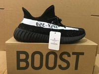 Wholesale Red Infant Shoes - Cheap Zebra Black Red Infant Sport Shoes V2 Kanye west 350 BOOST v2 New With ORIGINAL BOX Black White Grey Orange Running Men Sneaker Shoes
