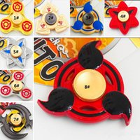 Wholesale Wholesale Hurricane - New Metal Honor Hand Spinner Hurricane Shape Hand Spinner Naruto Tri-Spinner Fidget Toy EDC Decompression Anxiety 21 Design Gifts PX-T31