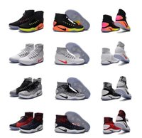 Wholesale Hyperdunk Shoes - 2017 New Arrival Men Rio Olympic High Cut Hyperdunk Black White Red Green Air Cushions Walking Hiking Shoes 40-46