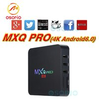Android TV Box Mini PC inteligente 4K Media Player MXQ PRO Rockchip RK3229 Quad Core 1G 8G Wifi 4Kx2K 1080P Reproductor multimedia de cine en casa Totalmente cargado