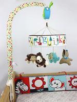 ingrosso mobili musicali per culle-Giocattoli infantili all'ingrosso del bambino 0-12 mesi Soft Mobile Bed Bell Culla Giocattoli per bambini rotanti musica appesa crepita giocattoli educativi musicali