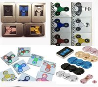 Wholesale Wholesale Sci Fi - 5pcs min 2017 Fidget Hand Spinner Toys 6 colors Metal,Led Spinner Glow with Retail box,The Anti-Anxiety 360 Spinner Stress Reducer