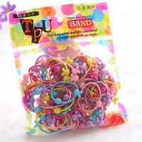 Wholesale Candy Color Rope Elastic Girl - New Arrival Candy Color Elastic Hair Rubber Bands Children Carton Hair Ornaments Girls Hair Rope for Kids