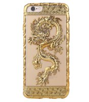 Estuche delgado transparente para iPhone 7 Plus 6Plus Nuevo 3D Dragon Design TPU Gel Estuche delgado fresco para iPhone 6 6s 7